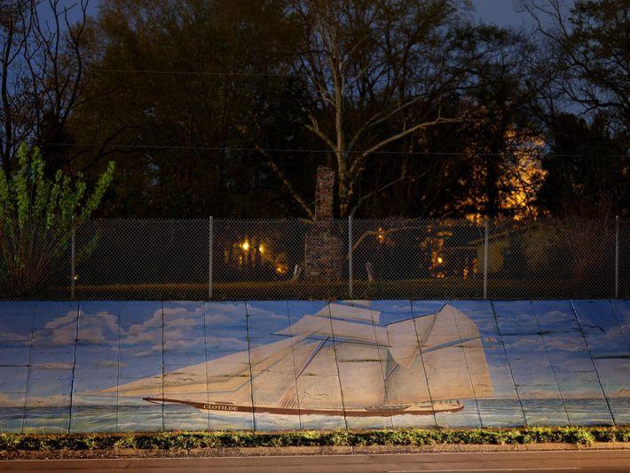 Un mural del Clotilda