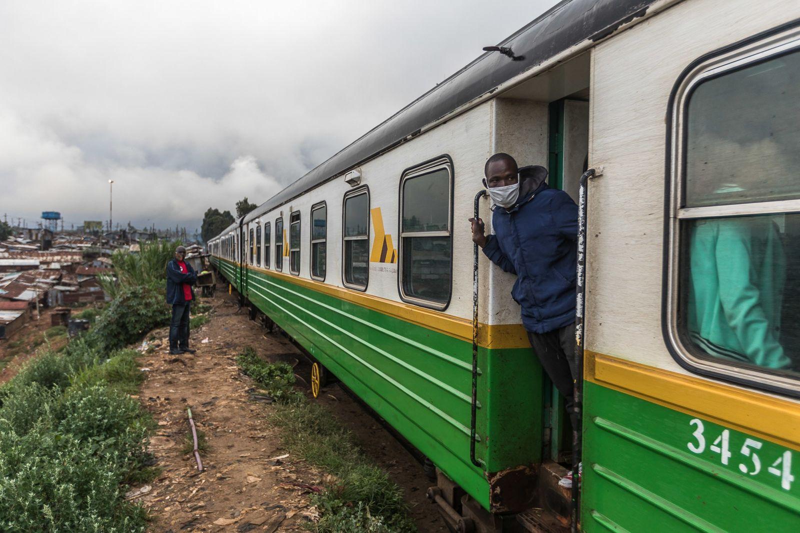 Tren al centro de Nairobi