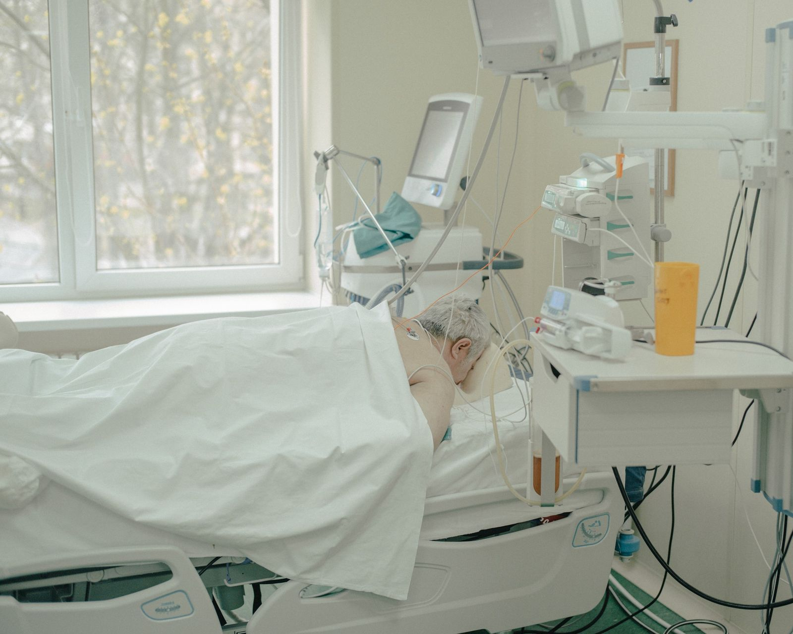 Foto de un paciente en decúbito prono