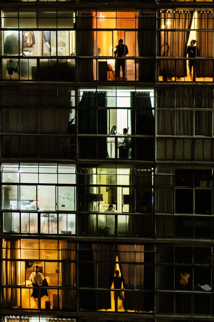 Residentes del edificio Copan de São Paulo