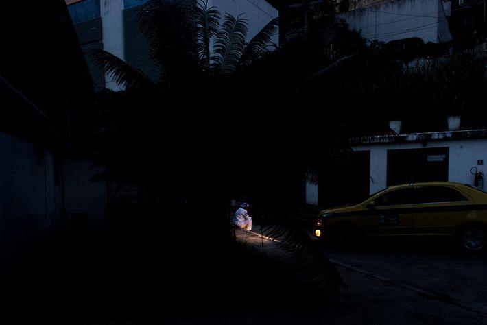 Fotografía de una sanitaria en Río de Janeiro