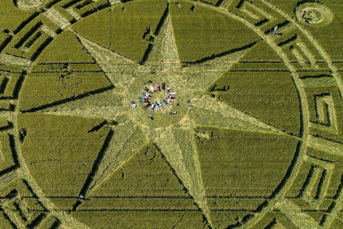 Círculos de los campos de cultivo