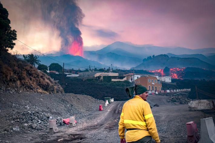 Segundo día de erupción en Cumbre Vieja