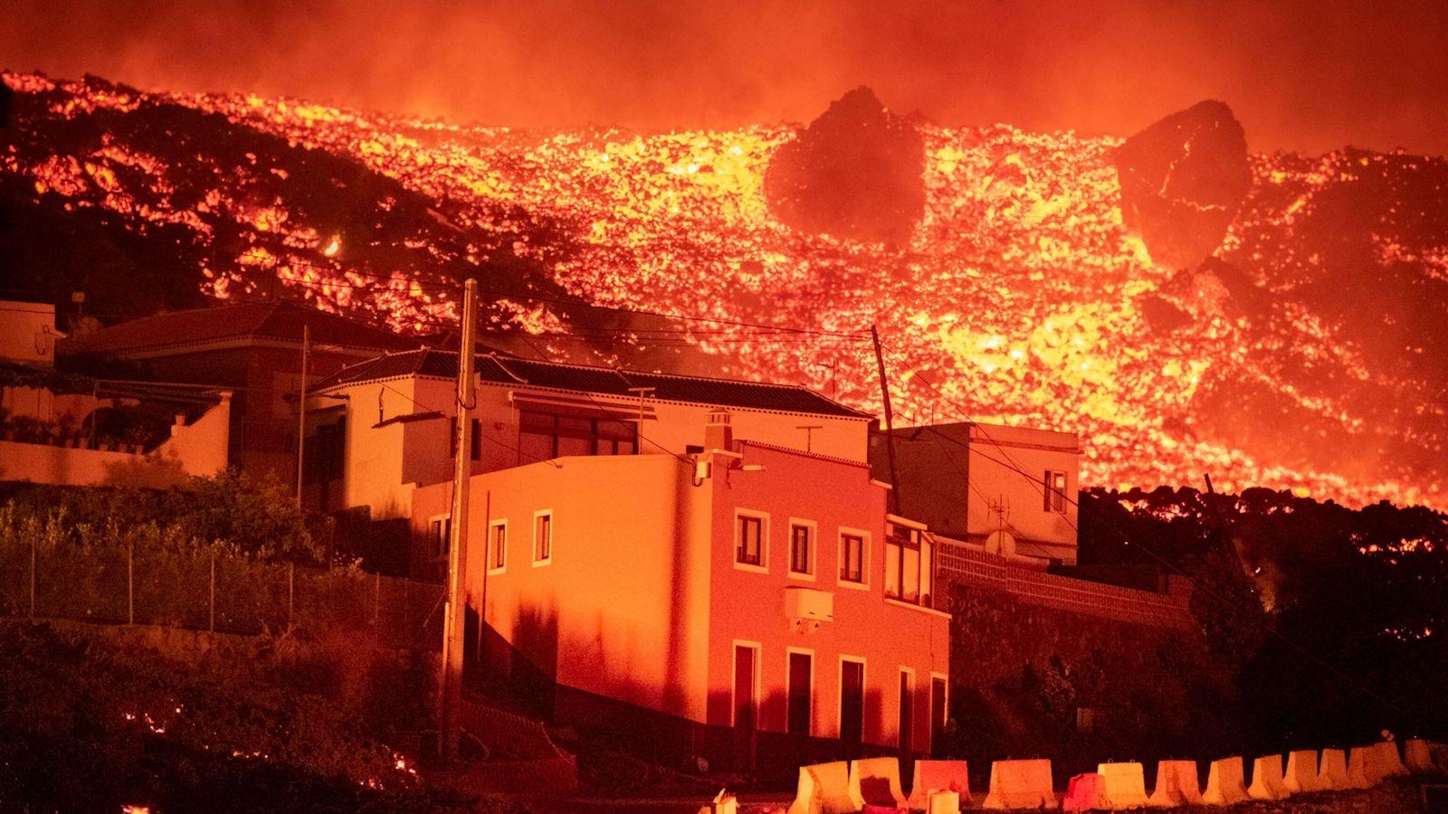 Día 2 en la erupción de Cumbre Vieja