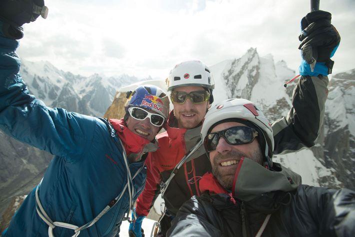 David Lama, Peter Ortner y Corey Rich