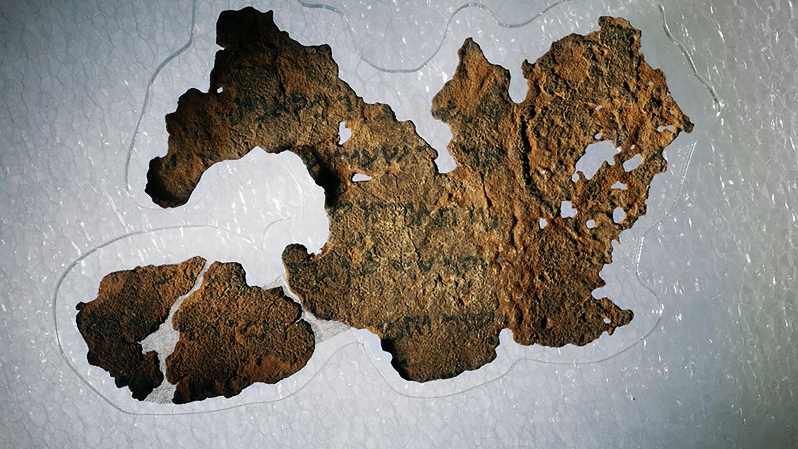 Fragmento de los manuscritos del mar Muerto