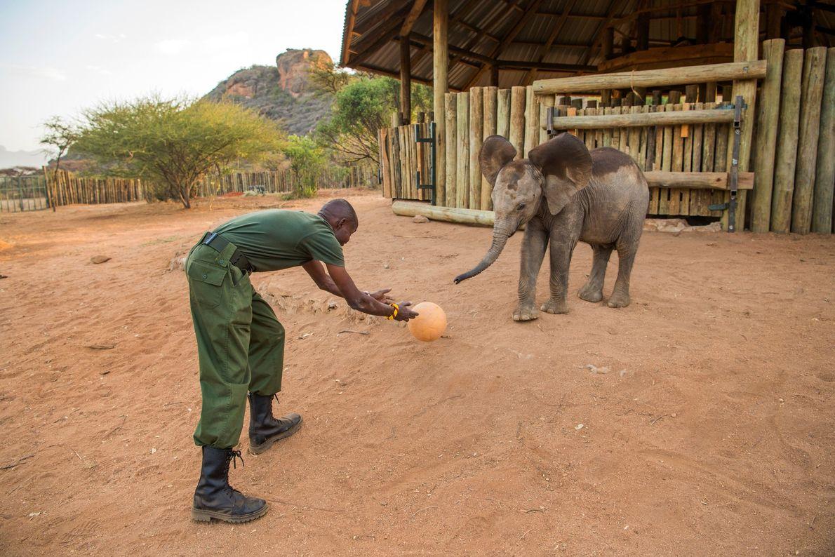 Lemojong juega a la pelota con Pokot