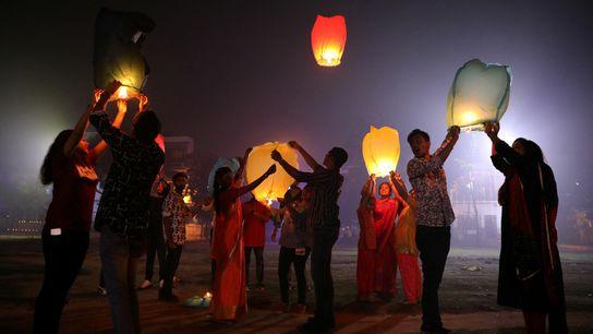 Celebración del Diwali