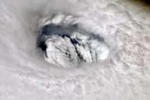 El ojo del huracán Dorian