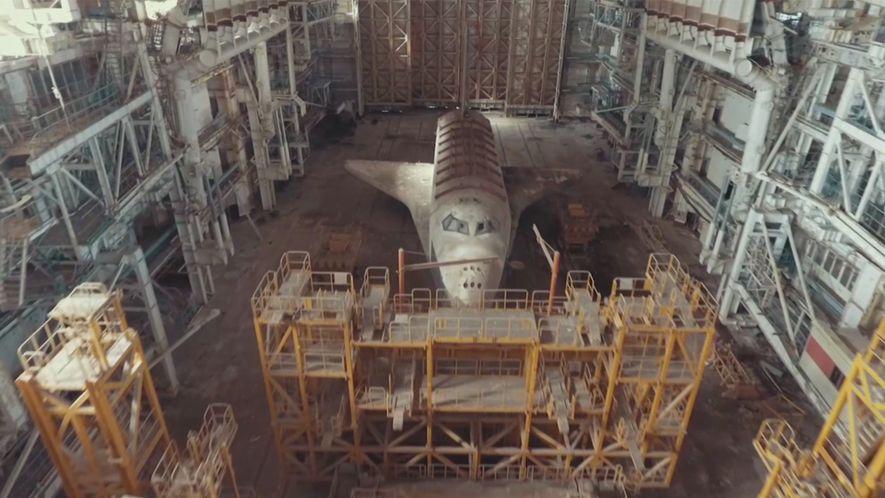 Los transbordadores espaciales soviéticos abandonados en un desierto de Kazajistán