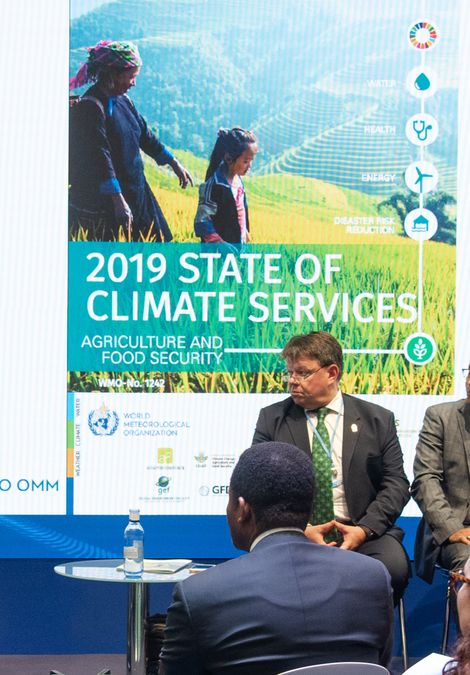 Petteri Taalas, secretario general de la WMO presente en la conferencia del IPCC de la COP25 ...