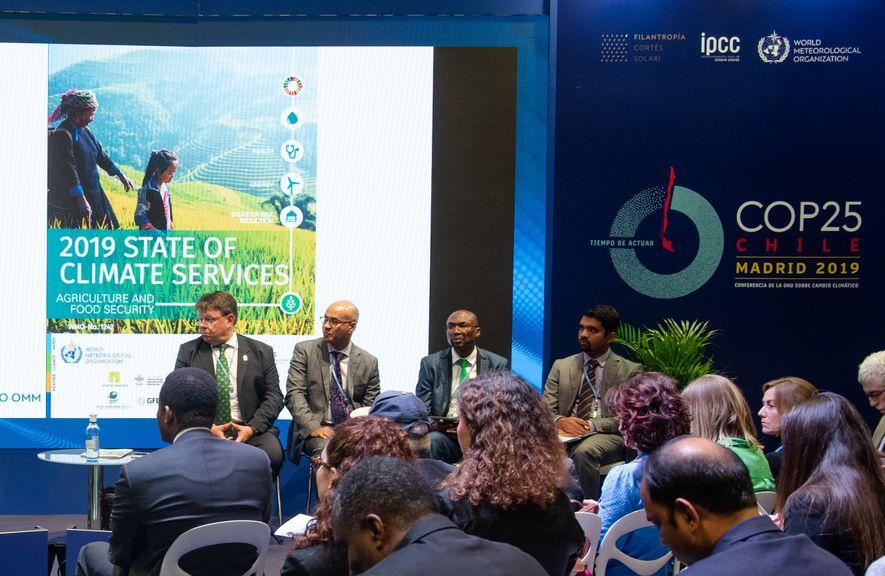 Centrándose en la agricultura y la seguridad alimentaria, la WMO presenta en la COP25 los servicios ...