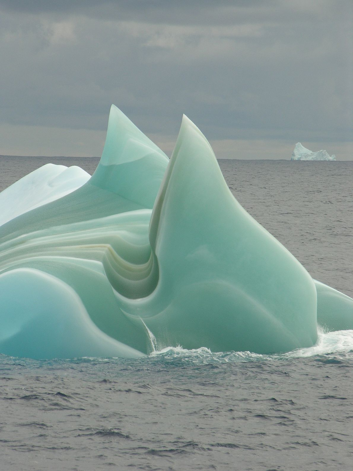 Un iceberg verde