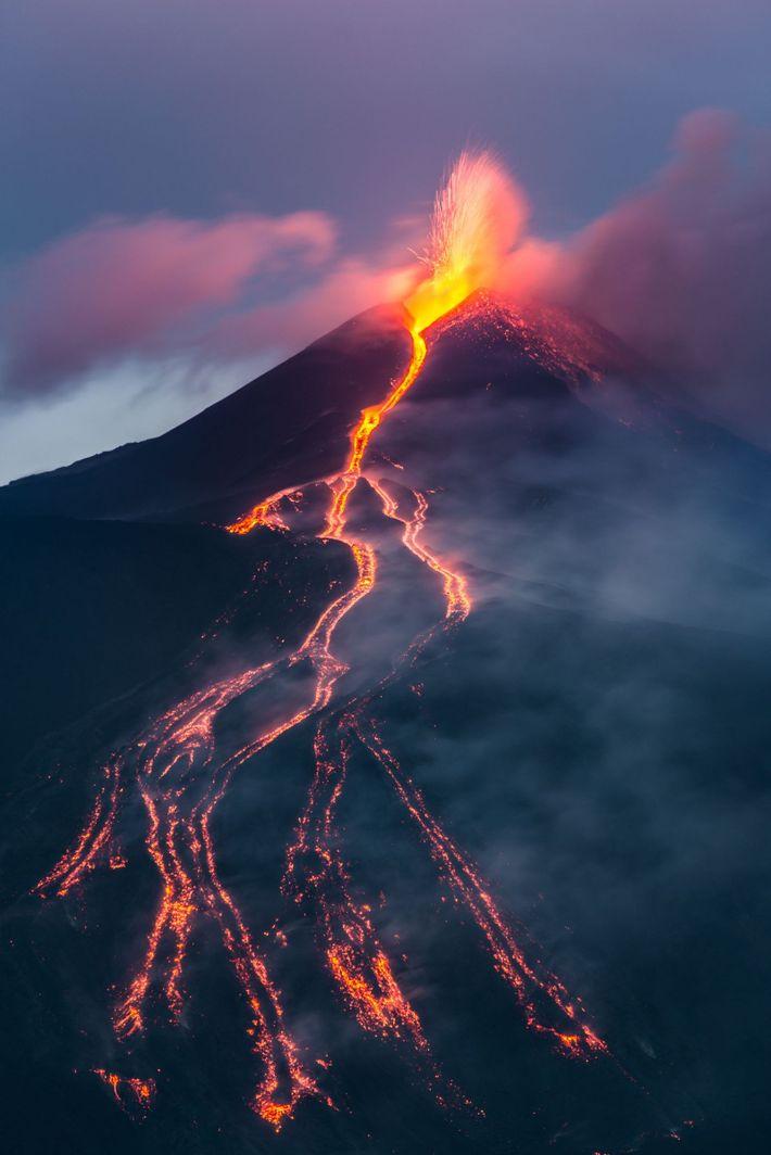 Erupción en el monteEtna
