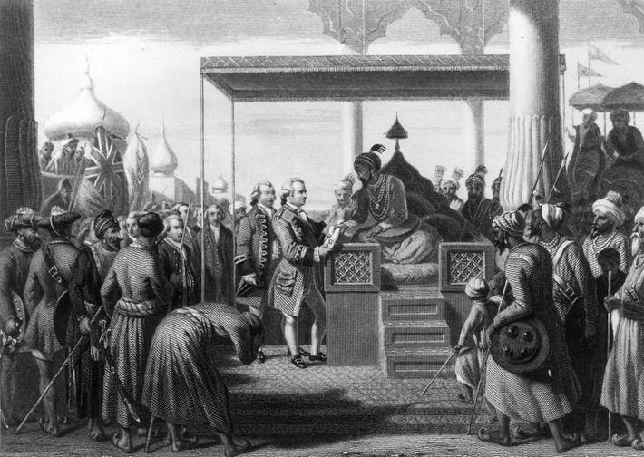 Alam II y Robert Clive