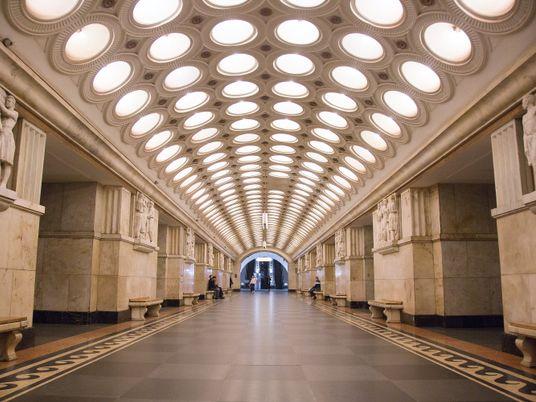 La hermosa arquitectura del metro de Moscú