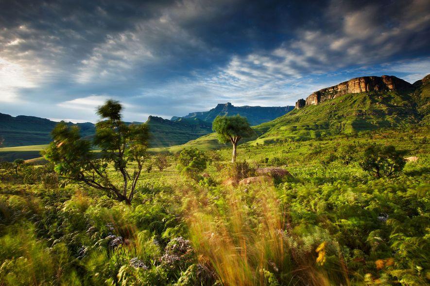 Ruta del norte del Drakensberg, Sudáfrica/Lesotho