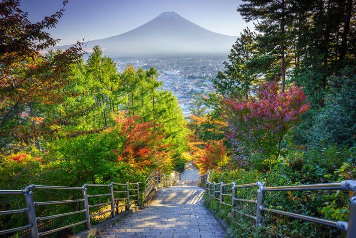 Ruta Yoshida, monte Fuji, Japón