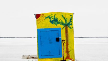 Refugios de pescadores en hielo de la serie «Ice Huts» de Richard Johnson
