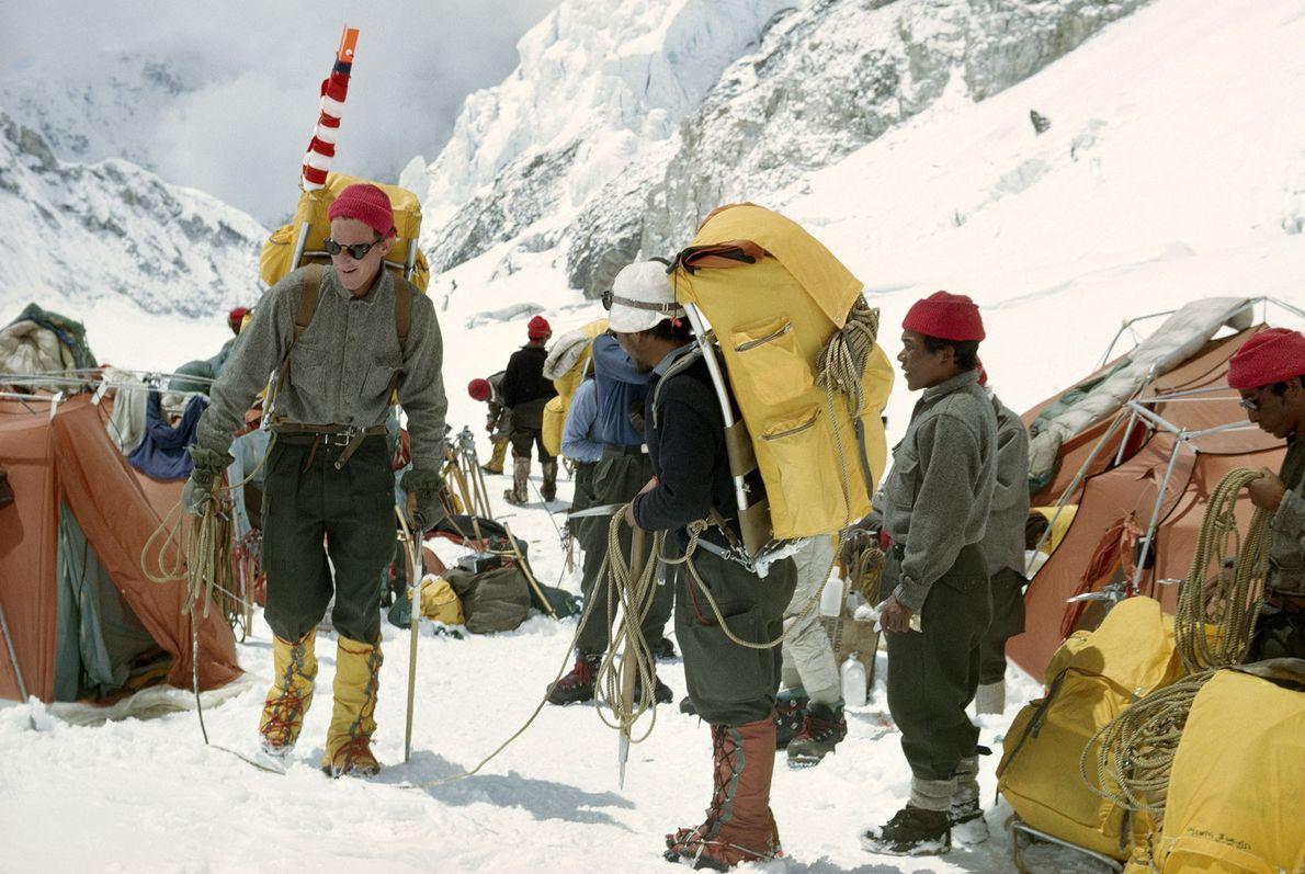 Un grupo de montañistas