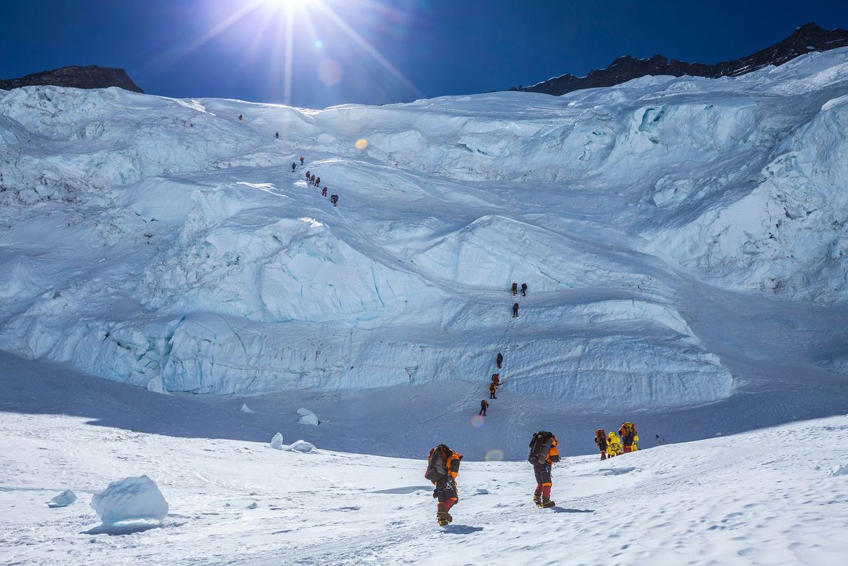 Un grupo de montañeros