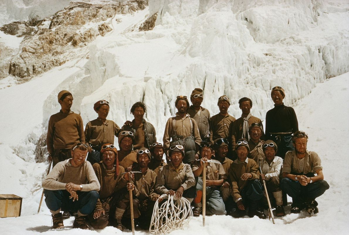 Un grupo de sherpas