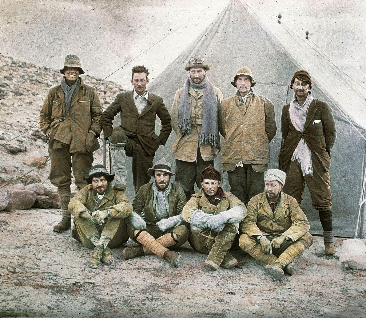 George Mallory y su equipo