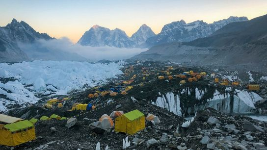 El campamento base del Everest