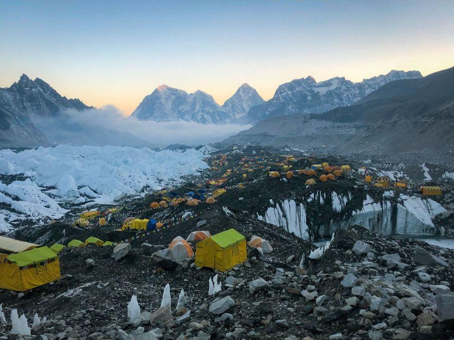 El campamento base del Everest