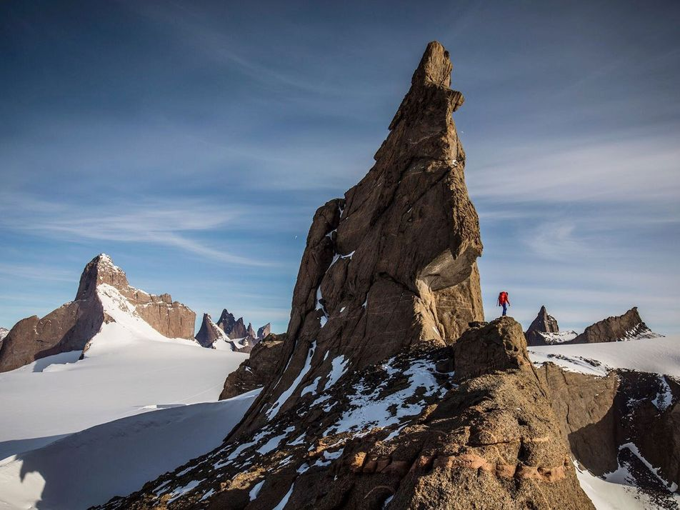 Escaladores en la Antártida