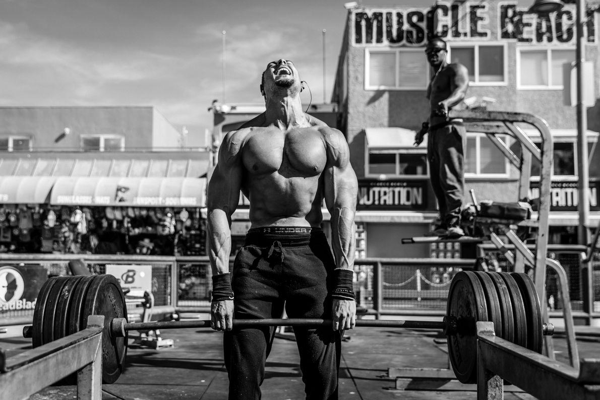La playa de los músculos