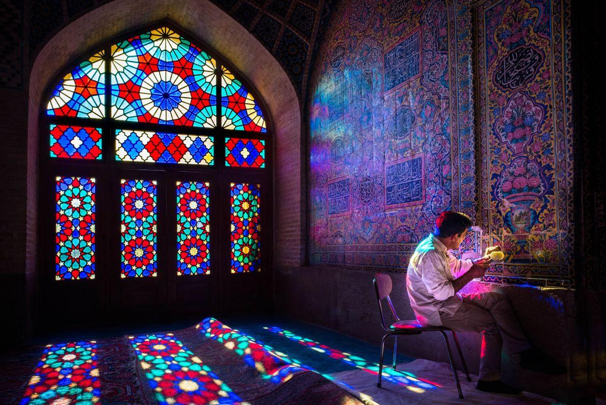 En la Mezquita Rosa