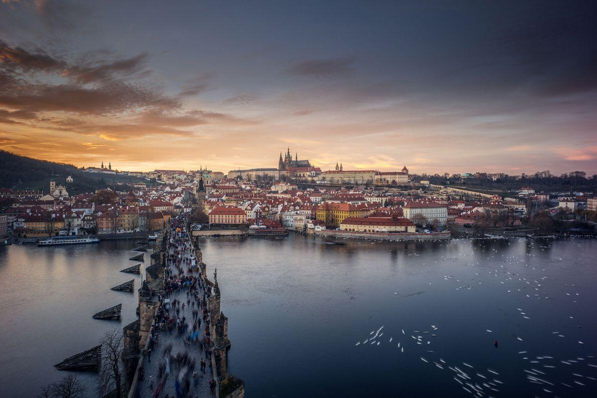 Atardeciendo en Praga