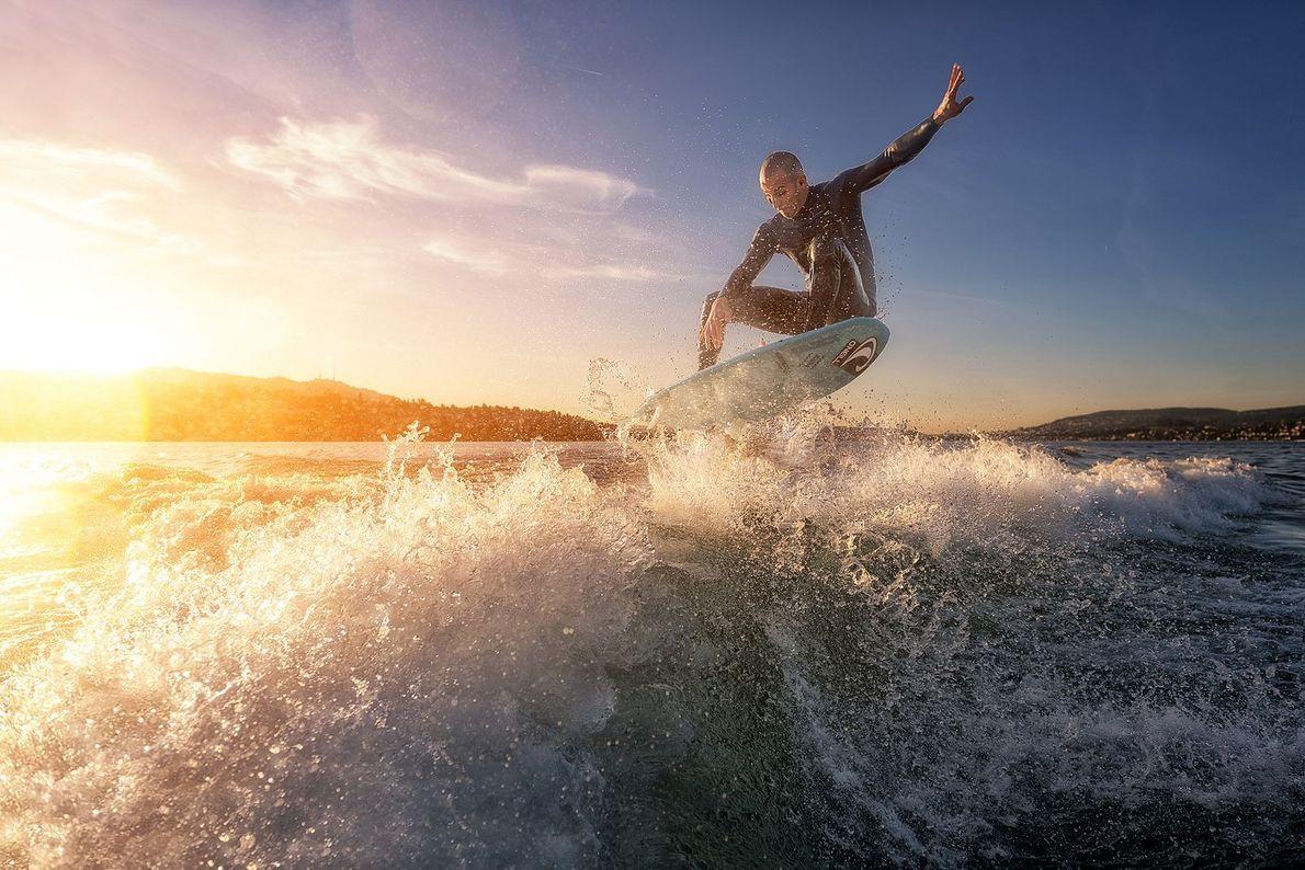 Surf en el lago