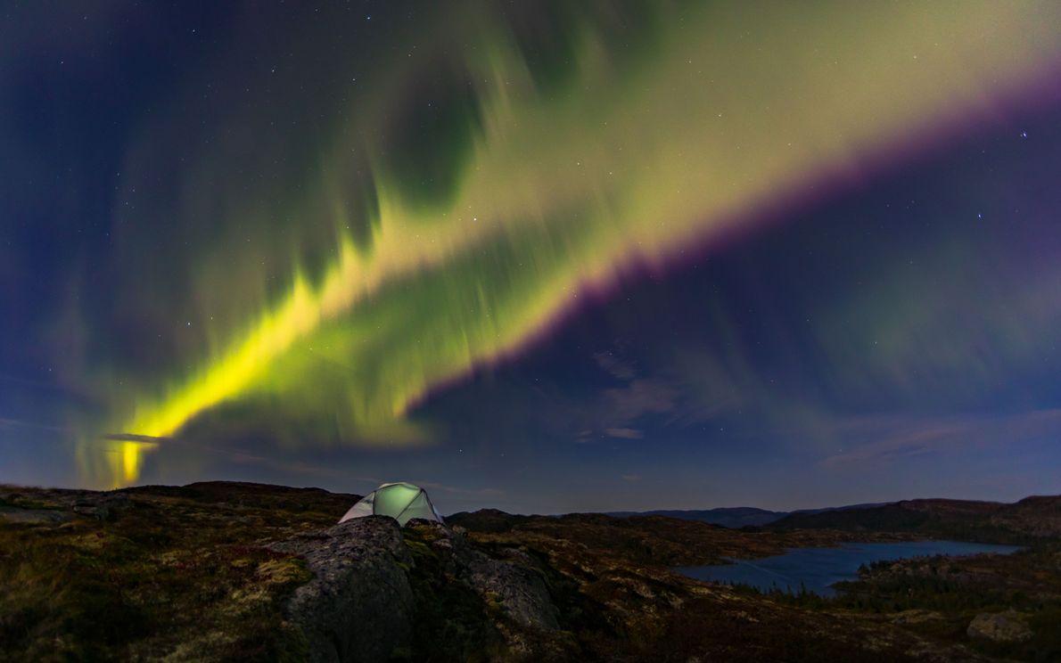 Auroras en el cielo