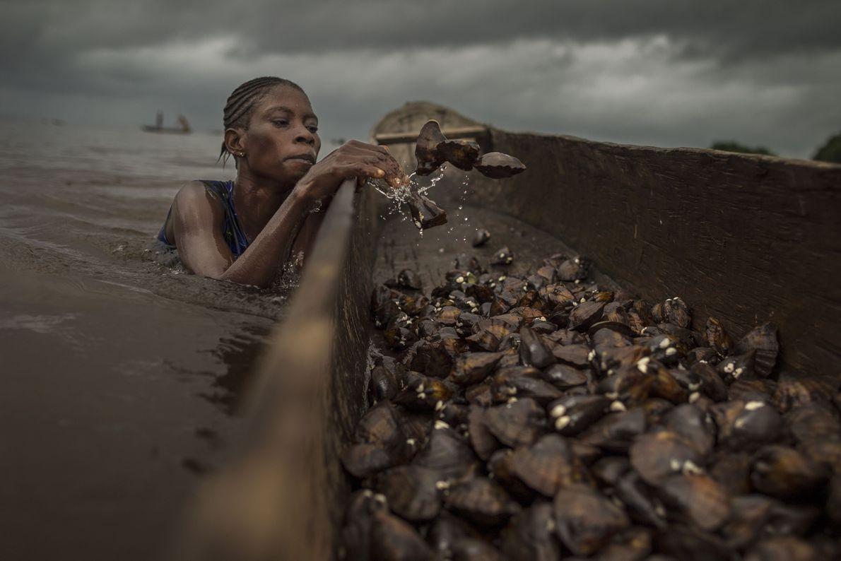Pesca de almejas