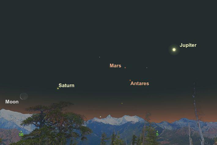 Marte y Antares