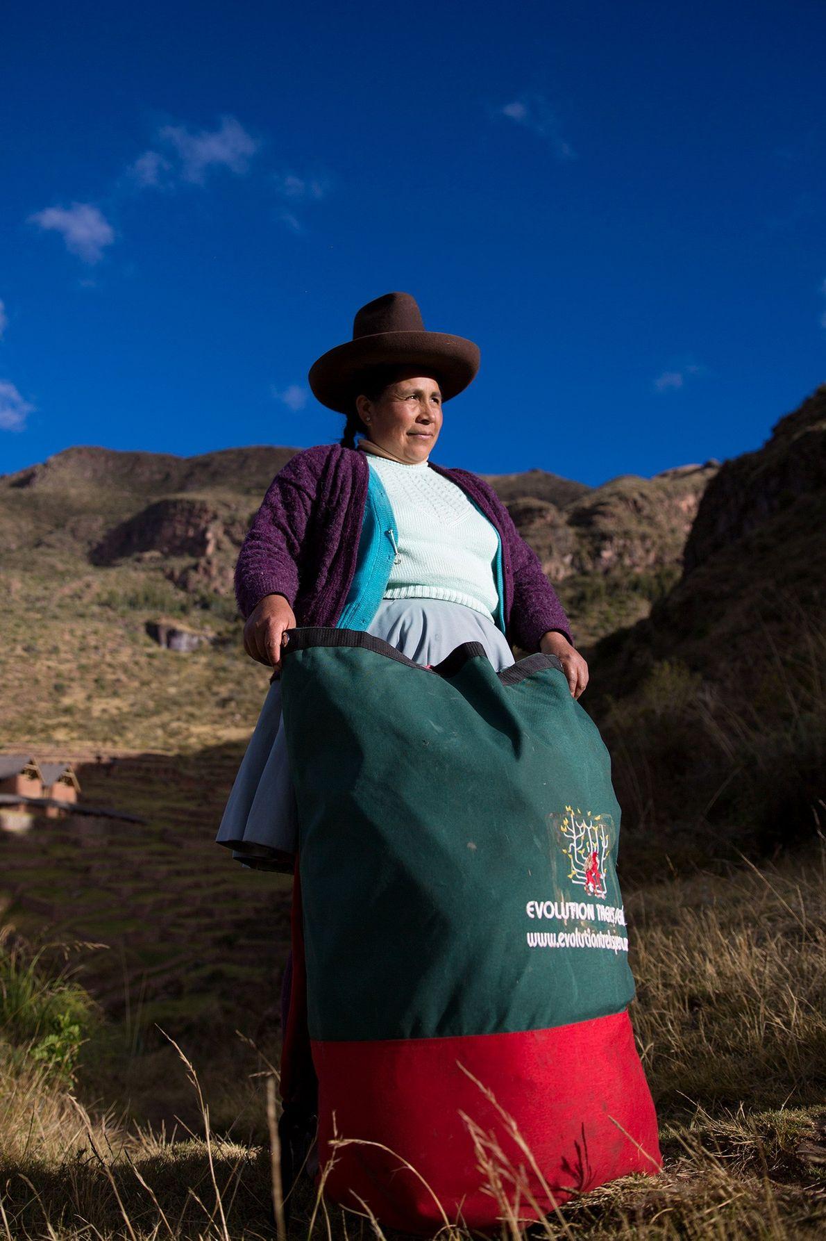 La porteadora Raymunda Tucta