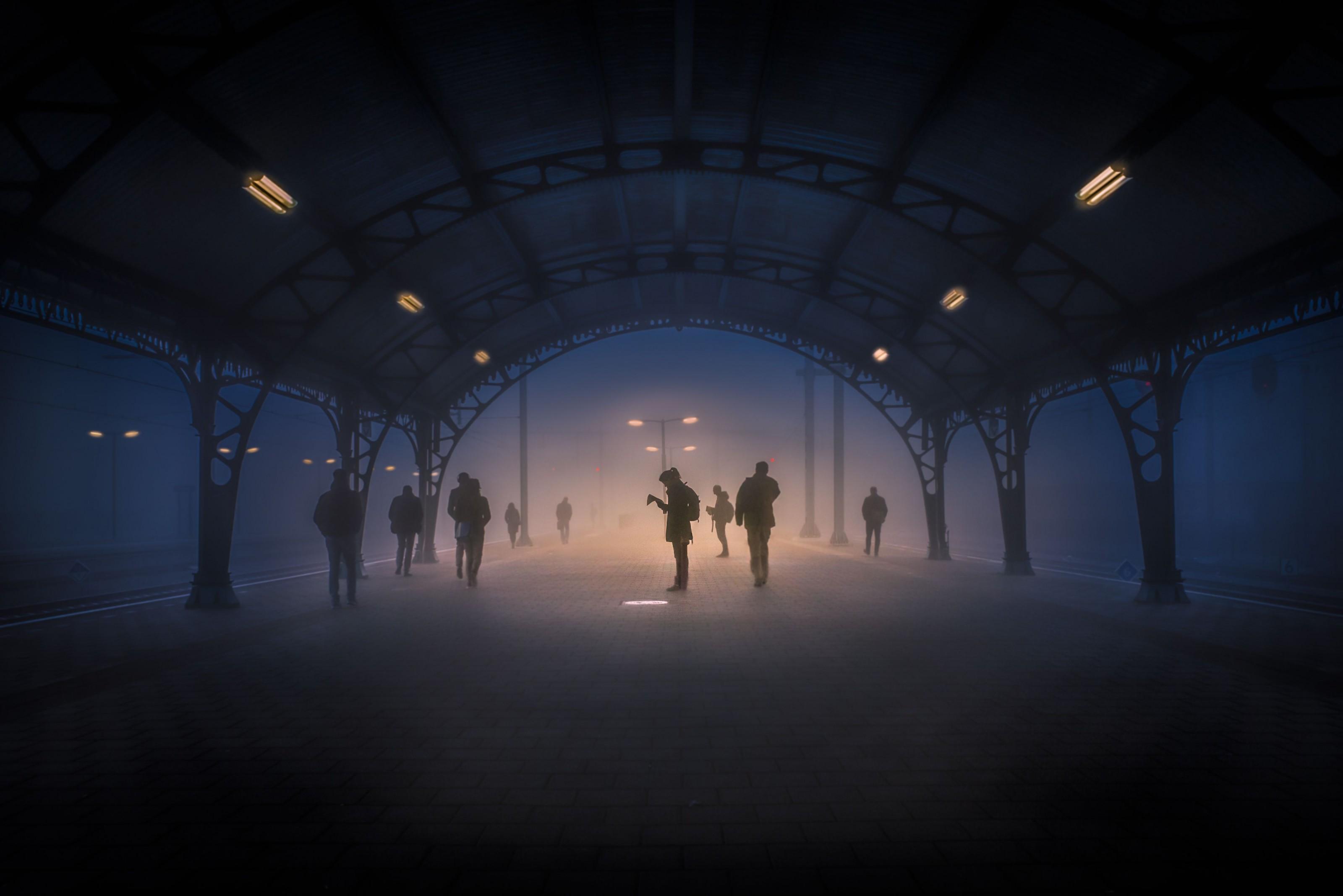 Transbordo en la niebla