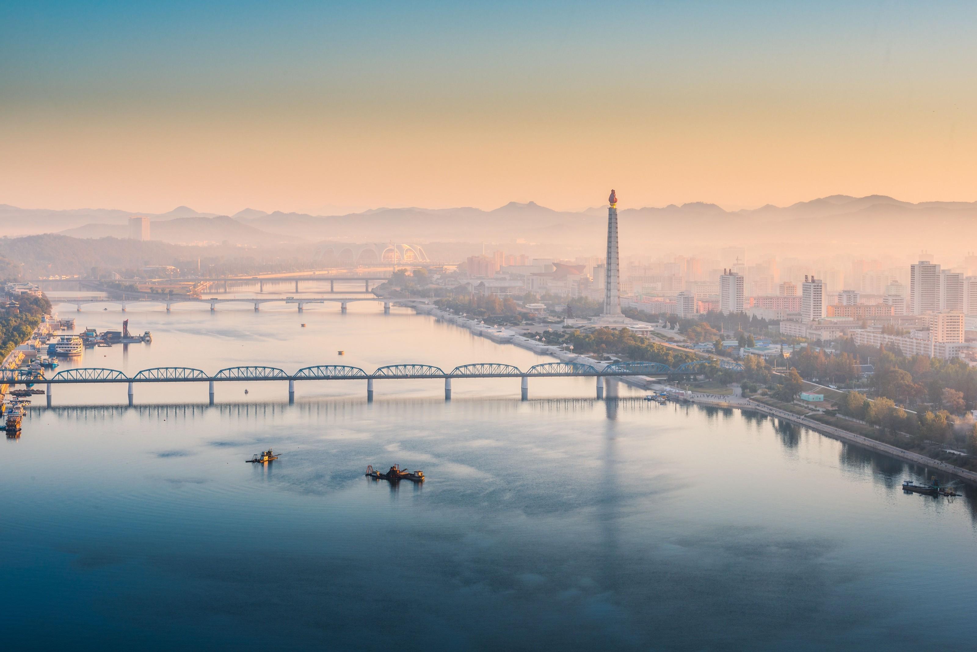 Amanece en Pyongyang