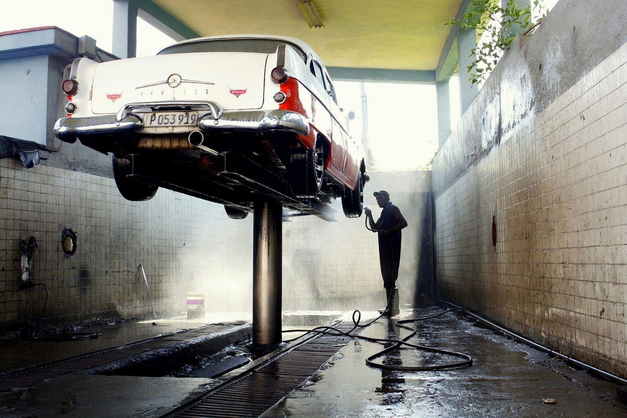 Lavando coches