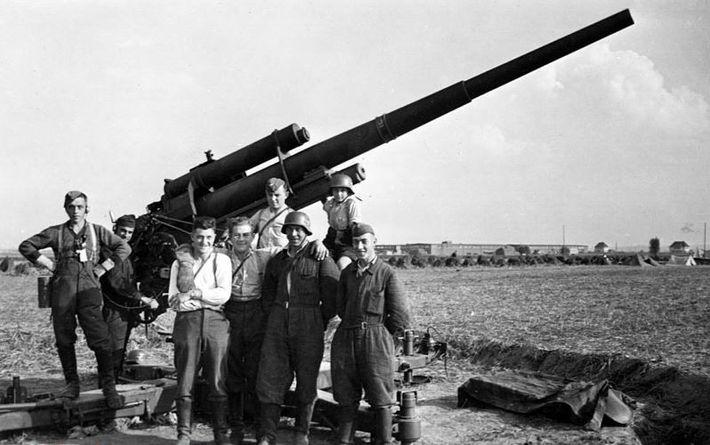 Cañón antiaéreo alemán