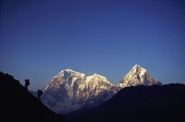 Senderistas en el Everest