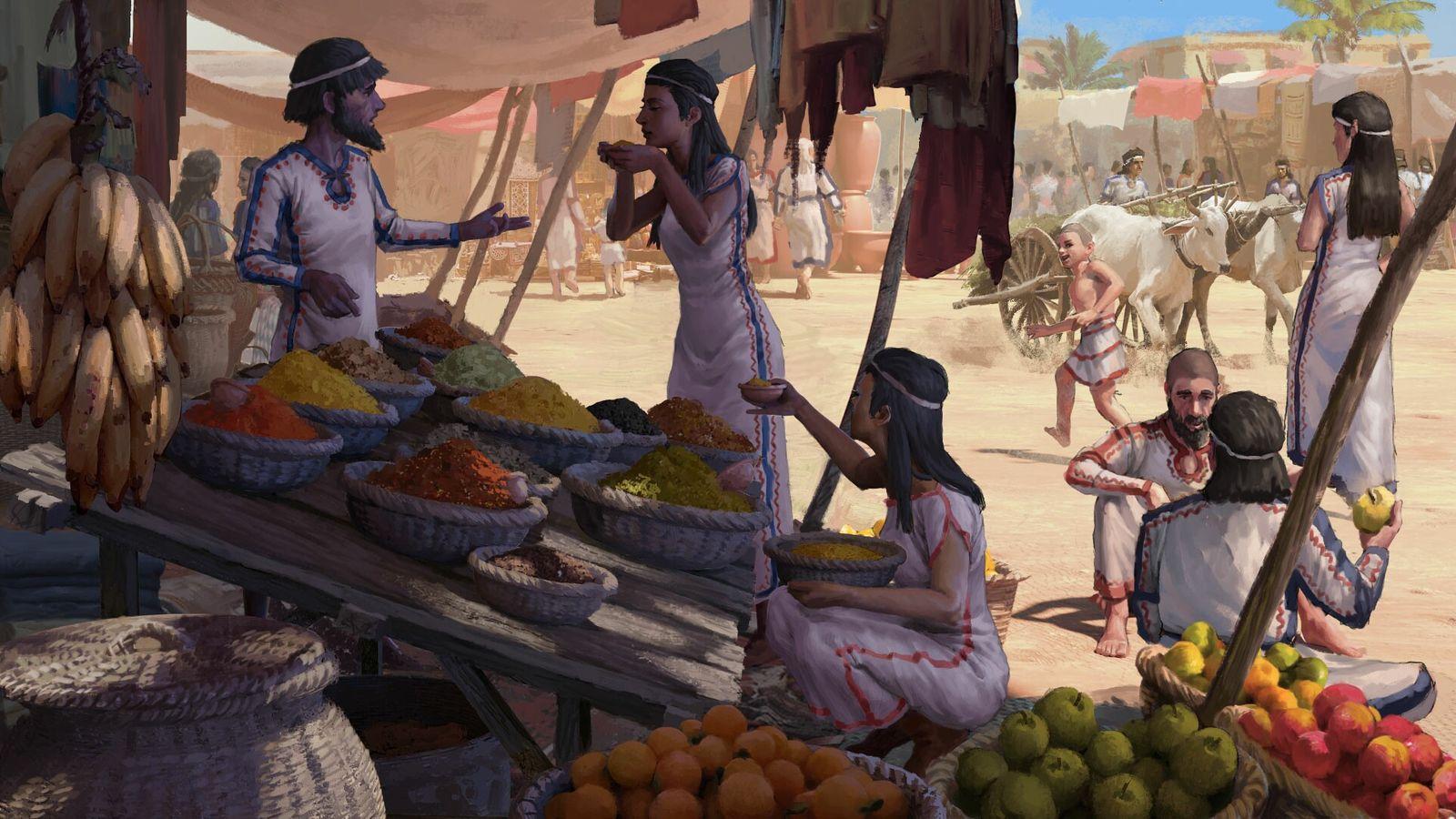 Mercado en la antigua Megido