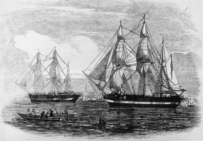 El H.M.S. Terror y el H.M.S. Erebus eran barcos de última generación para 1845, cuando la ...