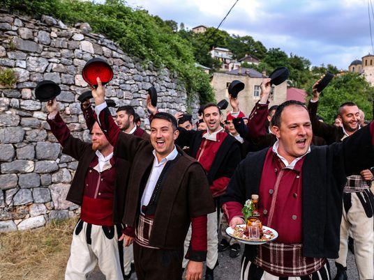Las bodas tradicionales anuales de Macedonia