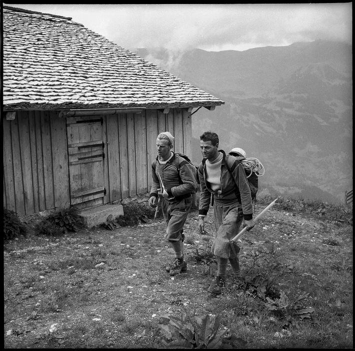 Escaladores suizos Adolf Derungs y Lukas Albrecht