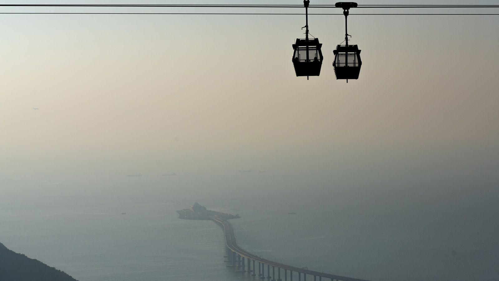 El teleférico de Ngong Ping, en Hong Kong