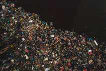 Plástico en el río Siak
