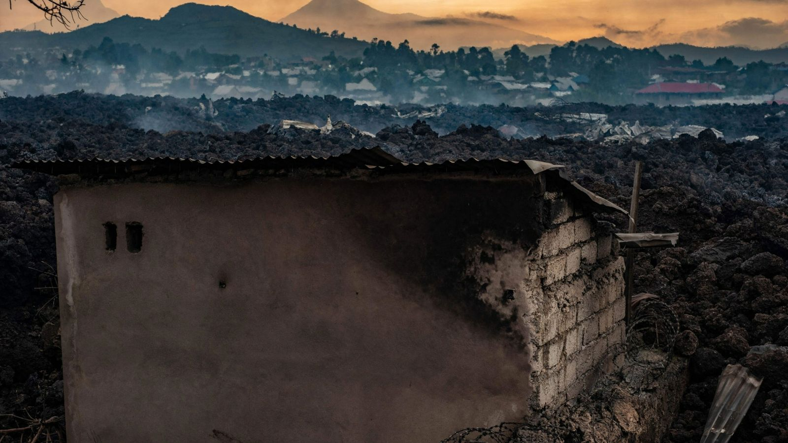 Erupción del monte Nyiragongo